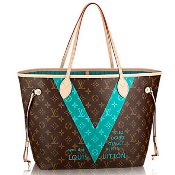 💎 LIMITED EDITION💎 Turquoise V Neverfull MM